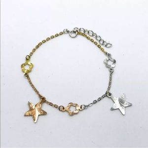 Jewelry - New 14k Rose, and Gold Layer 925 Silver Bracelet